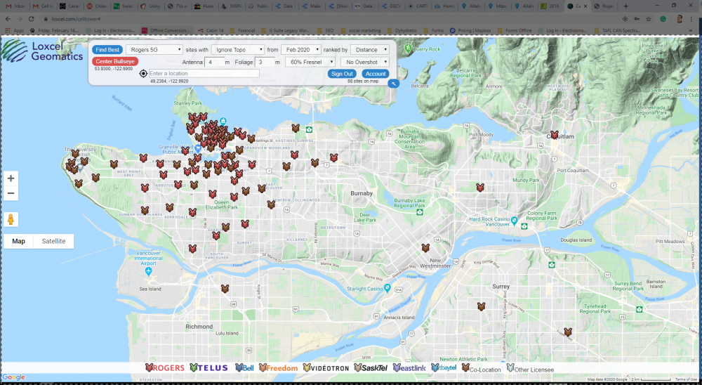 5G Locations in Vancouver